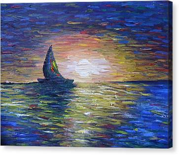Warm Summer Night Canvas Print by Aida Behani