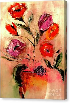 Warm Welcome Floral Canvas Print by Lisa Kaiser