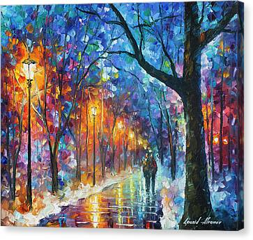 Warmed By Love Canvas Print by Leonid Afremov