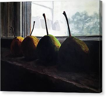 Fruit Canvas Print - Warmed By The Sun by Lissa Banks