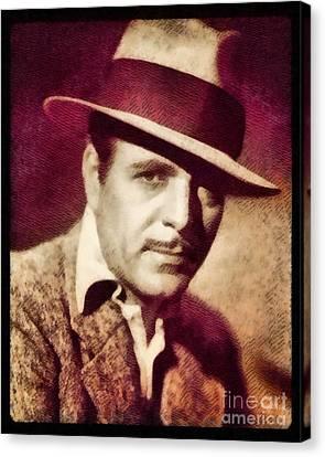 Warner Baxter, Vintage Actor By John Springfield Canvas Print