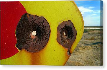 Warning Shot Canvas Print by Skip Hunt