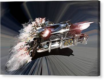 Canvas Print featuring the photograph Warp Speed by Christopher Woods