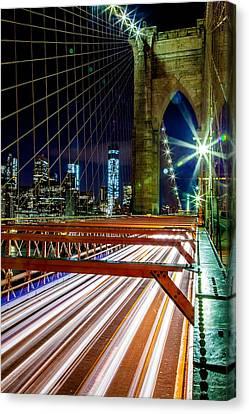 Warp Speed Out Of Manhattan Canvas Print