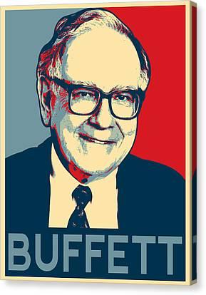 Warren Buffett Canvas Print by MotionAge Designs