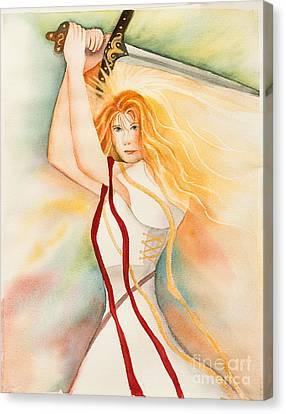 Warrior Bride Canvas Print