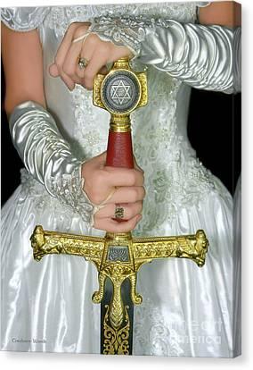 Warrior Bride Of Christ Canvas Print