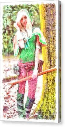 Warrior Girl - Da Canvas Print
