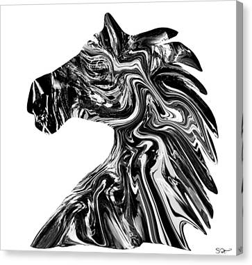 Warrior Horse Canvas Print