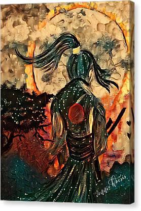 Warrior Moon Canvas Print