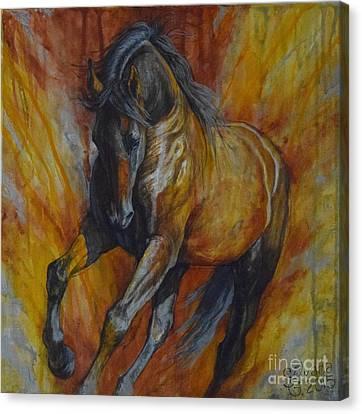 Warrior Canvas Print by Silvana Gabudean Dobre
