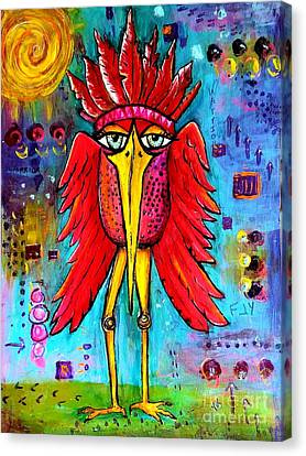 Canvas Print featuring the painting Warrior Spirit by Vickie Scarlett-Fisher