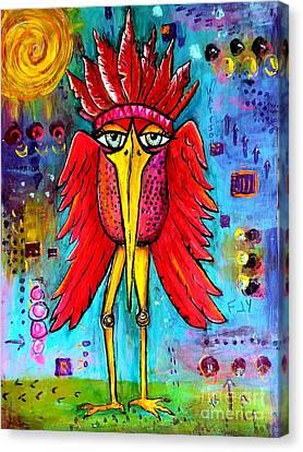 Warrior Spirit Canvas Print by Vickie Scarlett-Fisher