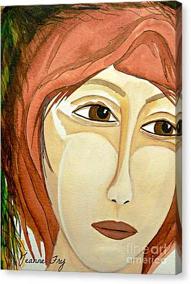 Warrior Woman - No Apologies Canvas Print by Jean Fry