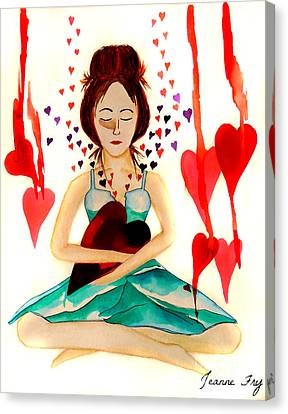 Warrior Woman - Tend To Your Heart Canvas Print