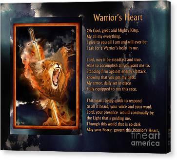 Warrior's Heart Poetry Canvas Print