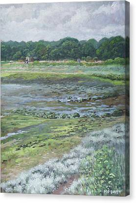 Canvas Print - Warsash Coastline With Tide Out Hampshire by Martin Davey