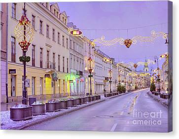Canvas Print featuring the photograph Warsaw by Juli Scalzi