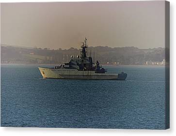 Warship Canvas Print by Martin Newman