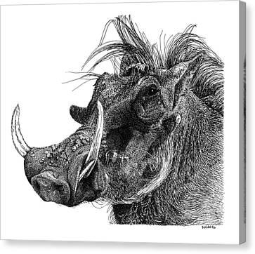 Warthog Canvas Print