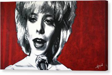 Donna Hayward Canvas Print - Was It Me Was It You by Hood alias Ludzska