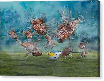 Was It Something I Said Canvas Print by Betsy Knapp