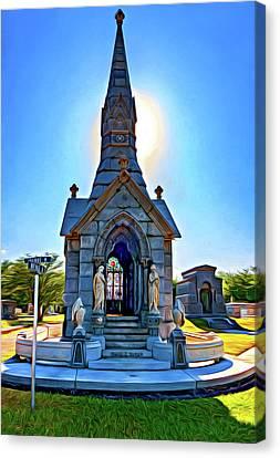 Metairie Cemetery Canvas Print - Was On Avenues Am - Paint by Steve Harrington
