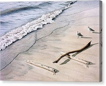 Wasaga Beach Surf Canvas Print by Conrad Mieschke