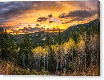 Wasatch Autumn Sunrise Canvas Print by James Udall