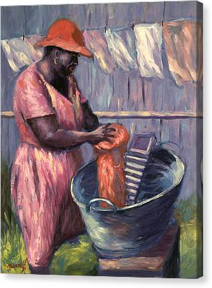 Black Artist Canvas Print - Wash Day by Carlton Murrell