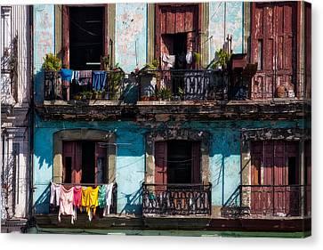 Wash Day On The Prado - Havana Canvas Print by Mountain Dreams