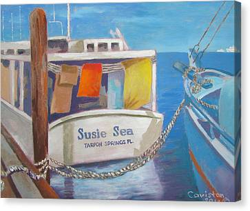 Canvas Print featuring the painting Wash Out by Tony Caviston