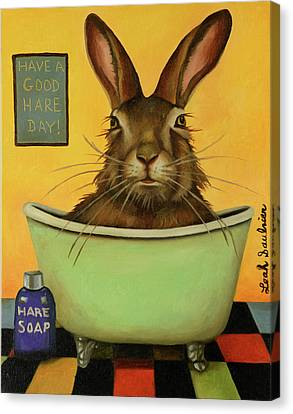 Canvas Print - Wash Your Hare by Leah Saulnier The Painting Maniac