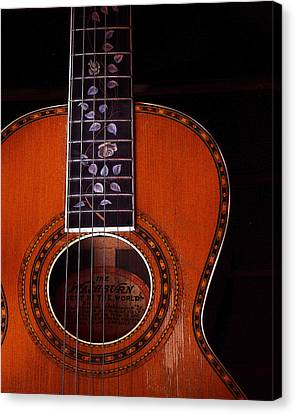 Canvas Print featuring the photograph Washburn Guitar by Jim Mathis