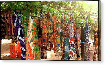 Washday At Big Millys Canvas Print