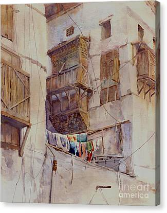 Washday Jeddah Canvas Print by Dorothy Boyer