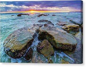 Turquois Water Canvas Print - Washed By The Water by Scott Campbell