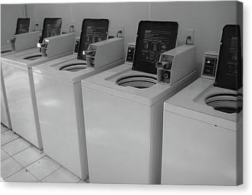 Laundry Mat Canvas Print - Washers by WaLdEmAr BoRrErO