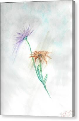 Washing Away Canvas Print by Judy Hall-Folde