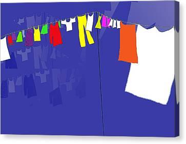 Washing Line Canvas Print by Barbara Moignard