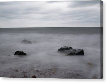 Canvas Print featuring the photograph Washing Over The Beach by Andrew Pacheco