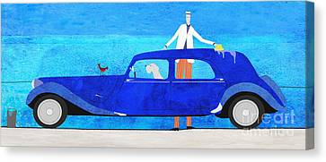 Washing The Car Canvas Print
