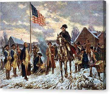 Washington At Valley Forge Canvas Print by Unknown