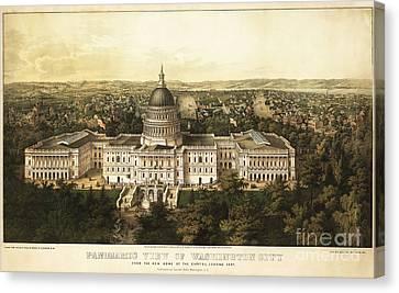 Whitehouse Canvas Print - Washington City 1857 by Jon Neidert