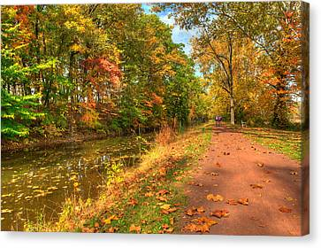 Towpath Canvas Print - Washington Crossing Park by William Jobes