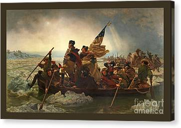 Canvas Print featuring the photograph Washington Crossing The Delaware by John Stephens