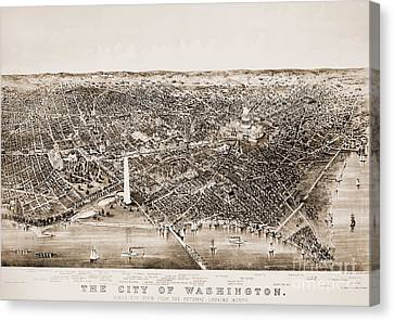 Washington D.c., 1892 Canvas Print by Granger