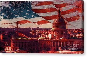 Washington Dc Building 76h Canvas Print by Gull G