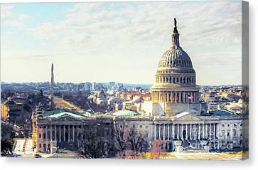 Washington Dc Building 9i8 Canvas Print by Gull G