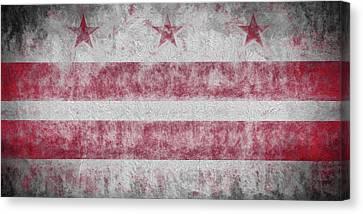 Canvas Print featuring the digital art Washington Dc City Flag by JC Findley